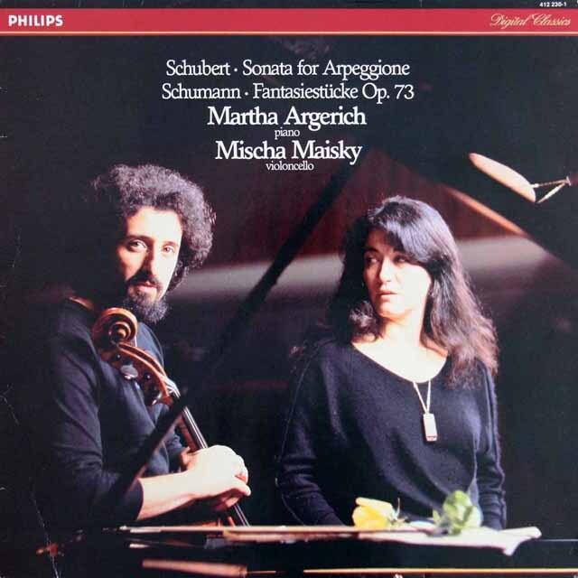 アルゲリッチ&マイスキーのシューベルト/「アルペジョーネ・ソナタ」ほか 蘭PHILIPS 3309 LP レコード
