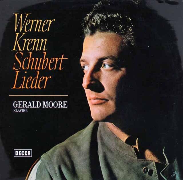 クレン&ムーアのシューベルト/歌曲集 独DECCA 3309 LP レコード