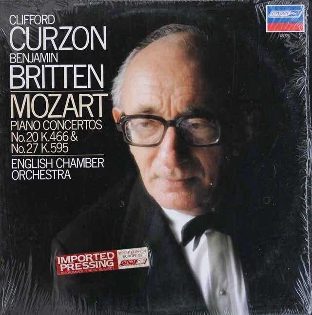 カーゾン&ブリテンのモーツァルト/ピアノ協奏曲第20&27番 蘭LONDON 3309 LP レコード