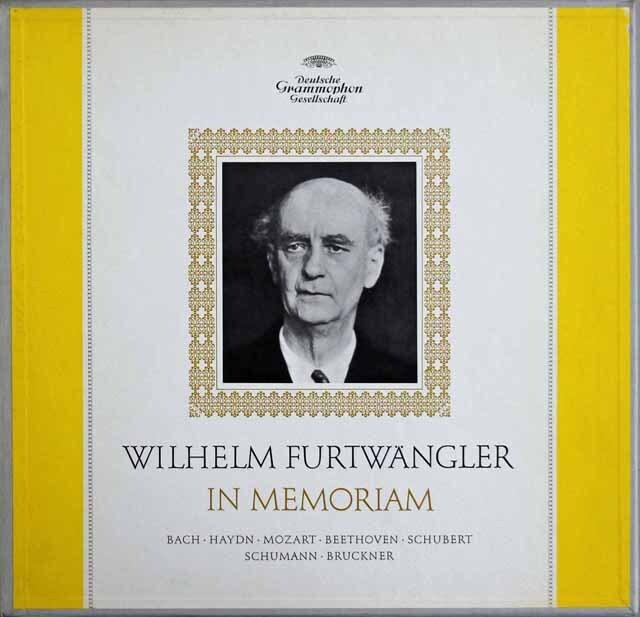「フルトヴェングラー イン メモリアム」 ブルックナー/交響曲第9番ほか 独DGG 3309 LP レコード