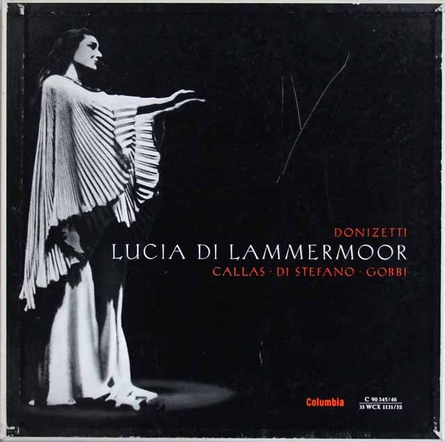カラスのドニゼッティ/「ランメルモールのルチア」全曲 独Columbia 3309 LP レコード