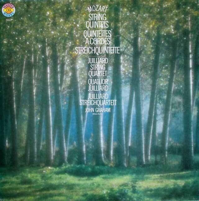 ジュリアード四重奏団&グラハムのモーツァルト/弦楽五重奏曲全集 独CBS 3309 LP レコード