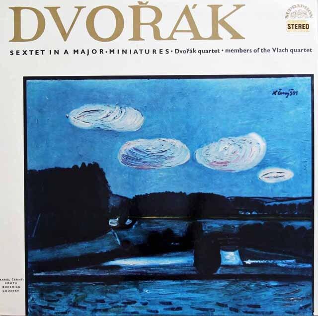 ドヴォルザーク四重奏団のドヴォルザーク/弦楽六重奏曲ほか チェコスロヴァキアSUPRAPHON 3310 LP レコード