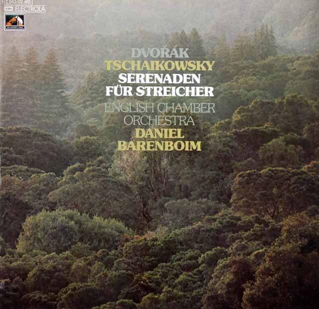 バレンボイムのチャイコフスキー、ドヴォルザーク/弦楽セレナーデ 独EMI 3310 LP レコード