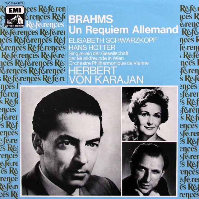 カラヤンのブラームス/ドイツ・レクイエム 仏EMI(VSM) 3310 LP レコード