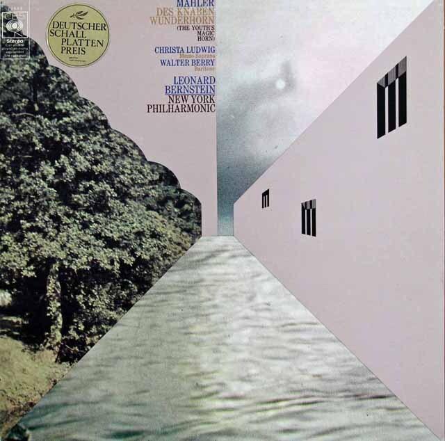 ルートヴィヒ、ベリー、バーンスタインのマーラー/子どもの不思議な角笛 英CBS 3310 LP レコード