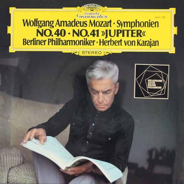 カラヤンのモーツァルト/交響曲第40、41番「ジュピター」 独DGG 3310 LP レコード