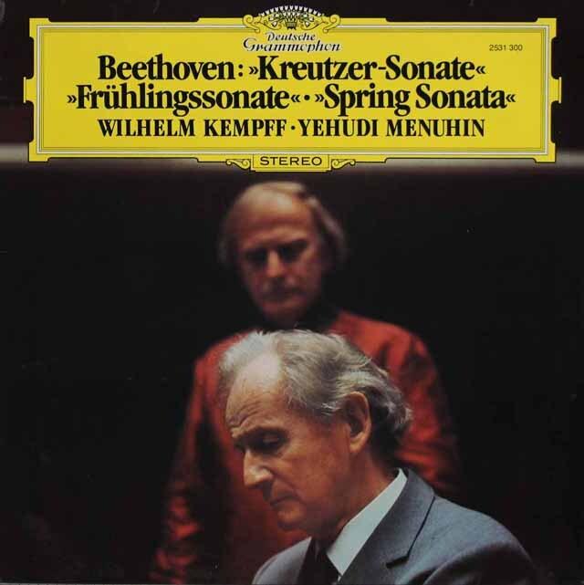 メニューイン、ケンプのベートーヴェン/「クロイツェル」、「春」 独DGG 3310 LP  レコード