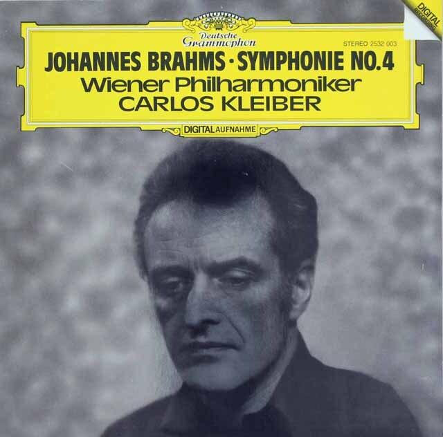 クライバーのブラームス/交響曲第4番 独DGG 3310 LP レコード