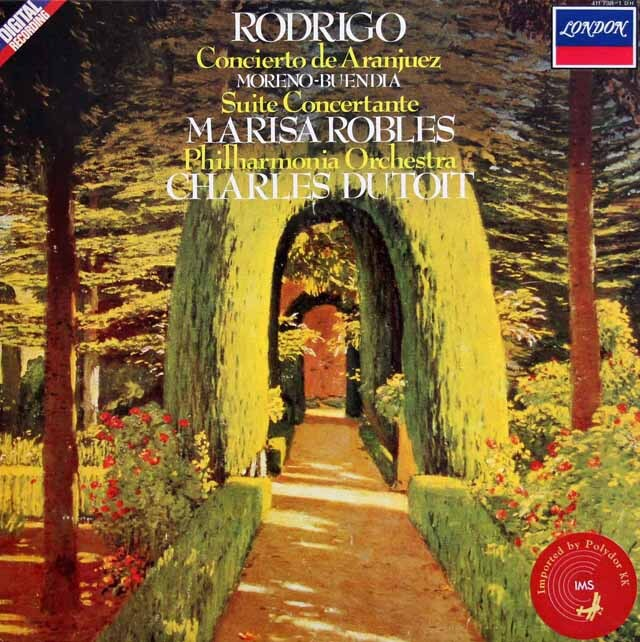ロブレス&デュトワのロドリーゴ/アランフェス協奏曲ほか 蘭DECCA 3310 LP レコード