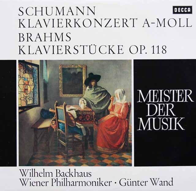 バックハウスのシューマン/ピアノ協奏曲ほか 独DECCA 3310 LP レコード