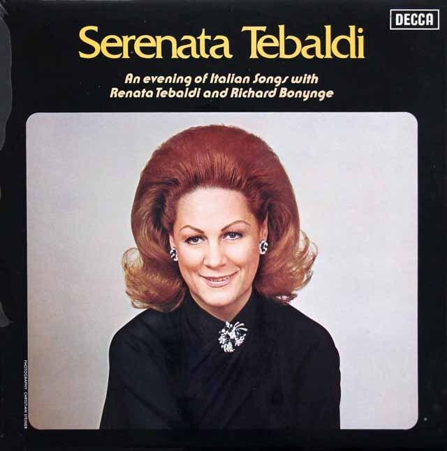 【オリジナル盤】 テバルディ/イタリア歌曲の夕べ 英DECCA 3310 LP レコード