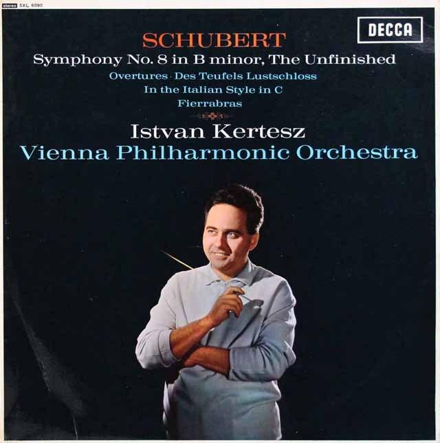 【オリジナル盤】 ケルテスのシューベルト/交響曲第8番「未完成」ほか 英DECCA 3310 LP レコード