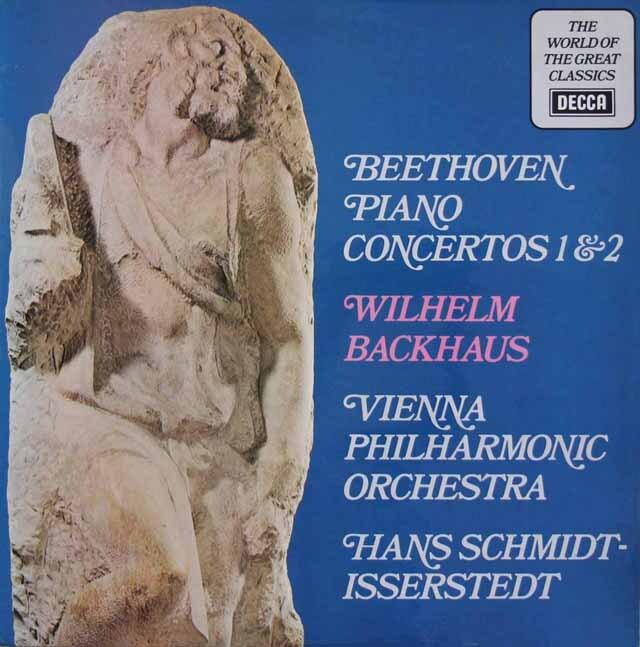 バックハウス&イッセルシュテットのベートーヴェン/ピアノ協奏曲第1、2番 英DECCA 3310 LP レコード
