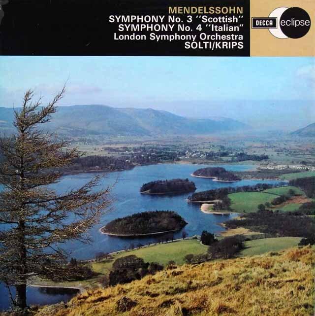 ショルティ、クリップスのメンデルスゾーン/交響曲集 英DECCA 3310 LP レコード