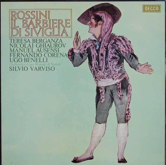 ベルガンサ&ヴァルヴィーゾのロッシーニ/「セビリアの理髪師」全曲 英DECCA 3310 LP レコード