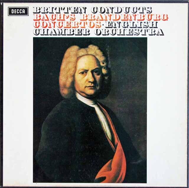 【オリジナル盤】 ブリテンのバッハ/ブランデンブルク協奏曲全集 英DECCA 3310 LP レコード