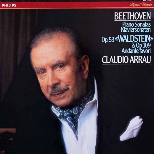 アラウのベートーヴェン/ピアノソナタ第21番「ヴァルトシュタイン」ほか 蘭PHILIPS 3310 LP レコード