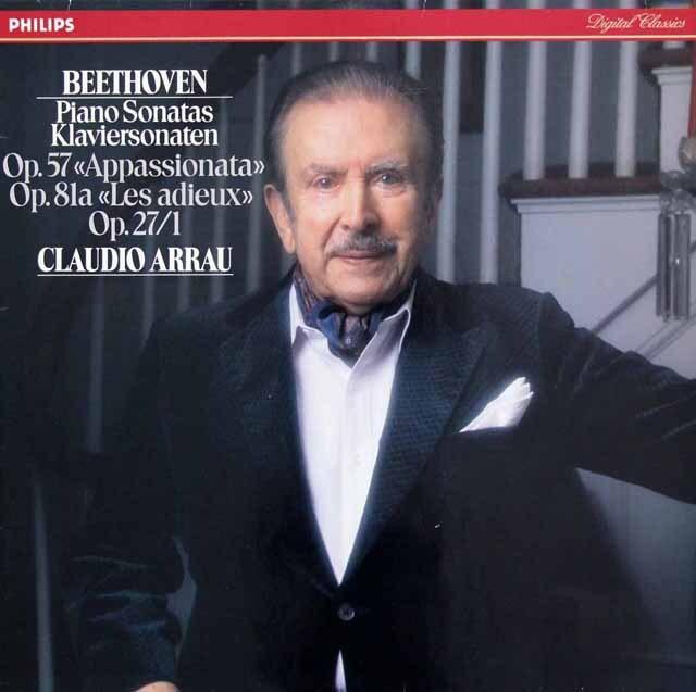 アラウのベートーヴェン/ピアノソナタ第23「熱情」、26「告別」、13番 蘭PHILIPS 3310 LP レコード