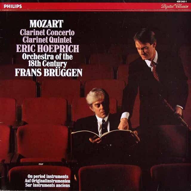 ブリュッヘンのモーツァルト/クラリネット協奏曲 蘭PHILIPS 3310 LP レコード