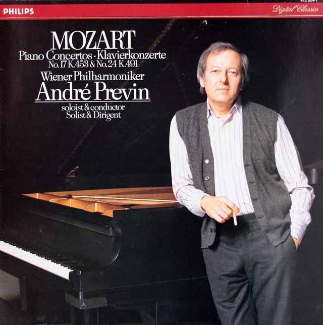 プレヴィンのモーツァルト/ピアノ協奏曲第17、24番 蘭PHILIPS 3310 LP レコード