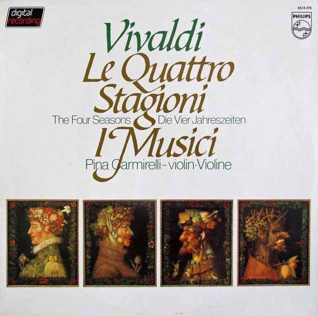 カルミレッリ&イ・ムジチ合奏団のヴィヴァルディ/「四季」 蘭PHILIPS 3310 LP レコード