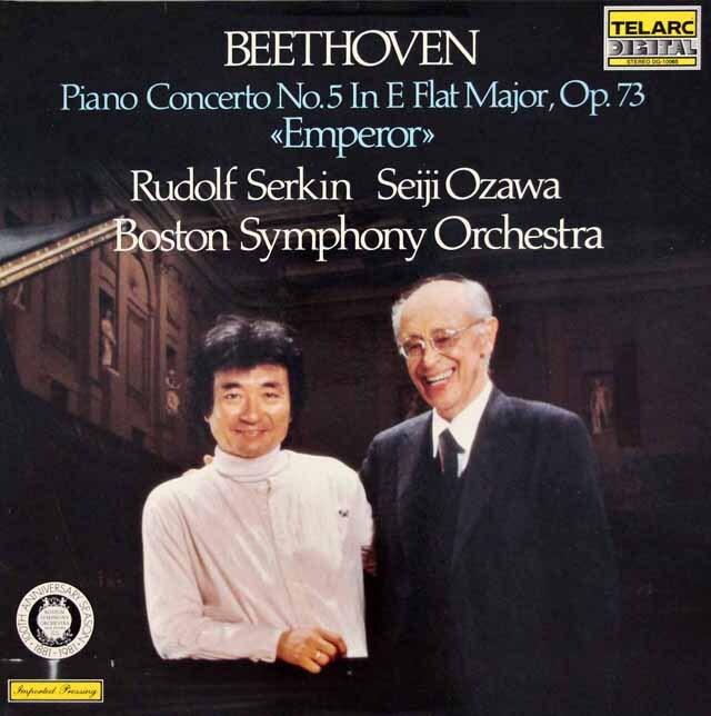 ゼルキン&小澤のベートーヴェン/ピアノ協奏曲第5番「皇帝」 独TELARC 3310 LP レコード