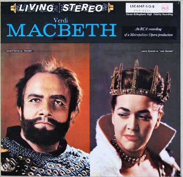 ラインスドルフのヴェルディ/「マクベス」全曲 独RCA 3310 LP レコード