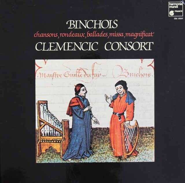 クレメンチッチ・コンソートのジル・バンショワの音楽  仏HM 3311 LP レコード