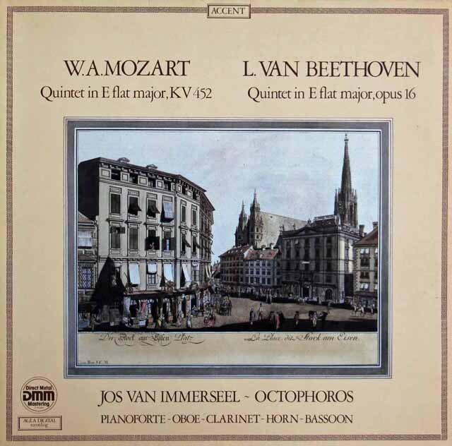 インマゼール&オクトフォロスのモーツァルト&ベートーヴェン/五重奏曲集 ベルギーACCENT 3311 LP レコード