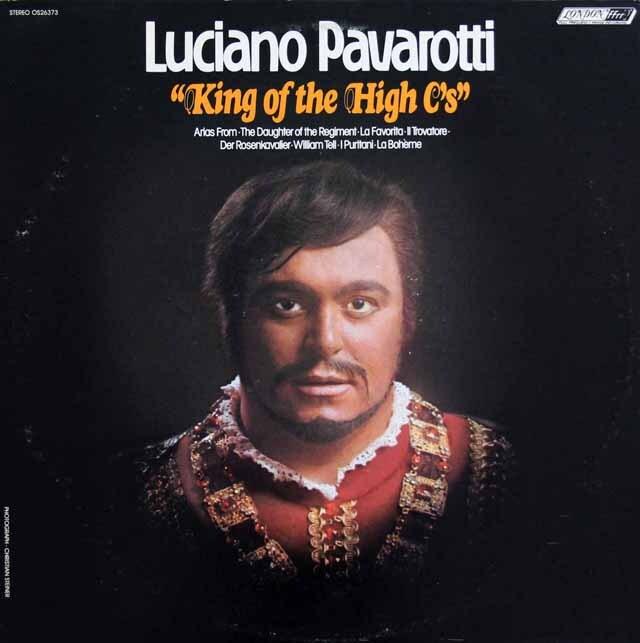 パヴァロッティのキング・オブ・ザ・ハイ C 英LONDON 3311 LP レコード