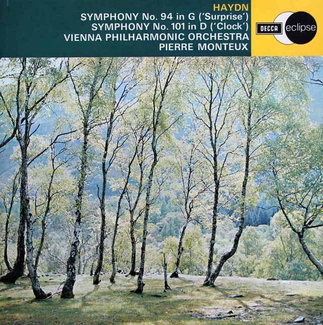 モントゥーのハイドン/交響曲第94番「驚愕」&101番「時計」 英DECCA 3311 LP レコード