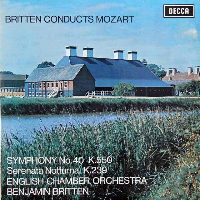 【オリジナル盤】ブリテンのモーツァルト交響曲第40番ほか 英DECCA 3311 LP レコード