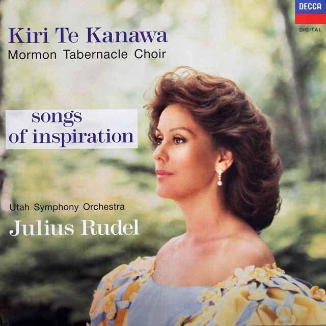 キリ・テ・カナワの宗教曲集「ソングス・オブ・インスピレーション」 蘭DECCA 3311 LP レコード