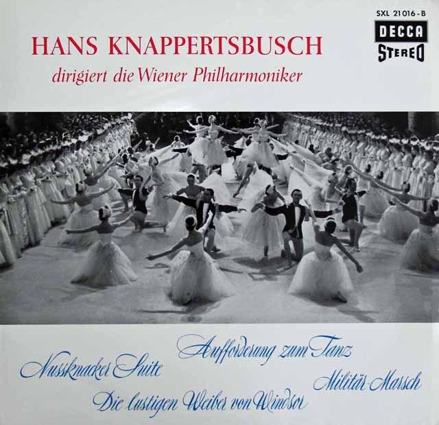 クナッパーツブッシュのチャイコフスキー/組曲「くるみ割り人形」ほか 独DECCA 3311 LP レコード