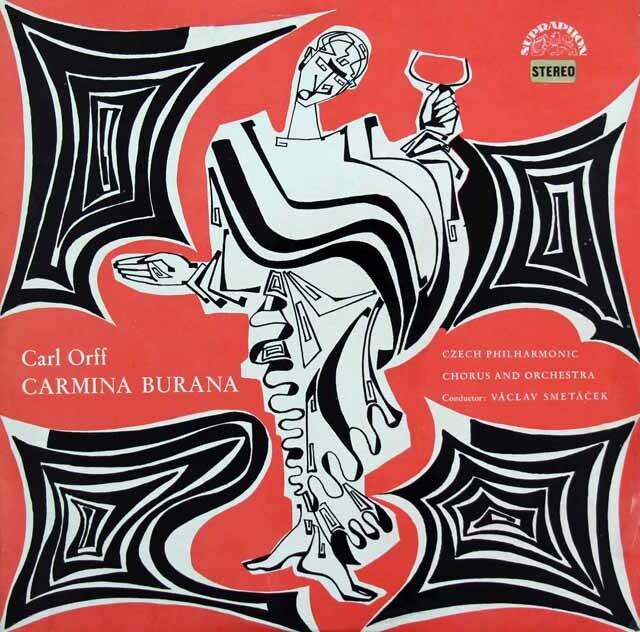 スメターチェクのオルフ/カルミナ・ブラーナ チェコSUPRAPHON 3311 LP レコード