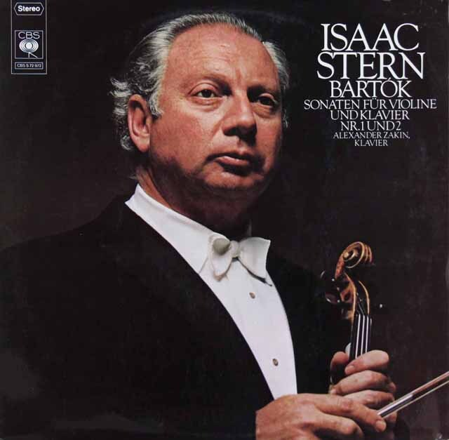 スターン&ザーキンのバルトーク/ヴァイオリン・ソナタ第1&2番 独CBS 3311 LP レコード