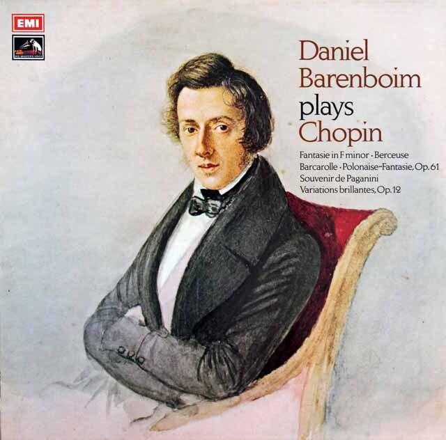 【オリジナル盤】バレンボイムのショパン作品集 英EMI 3311 LP レコード