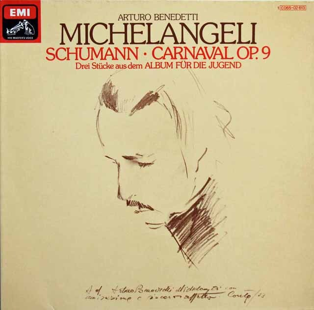 【独最初期盤】 ミケランジェリのシューマン/謝肉祭ほか 独EMI 3311 LP レコード