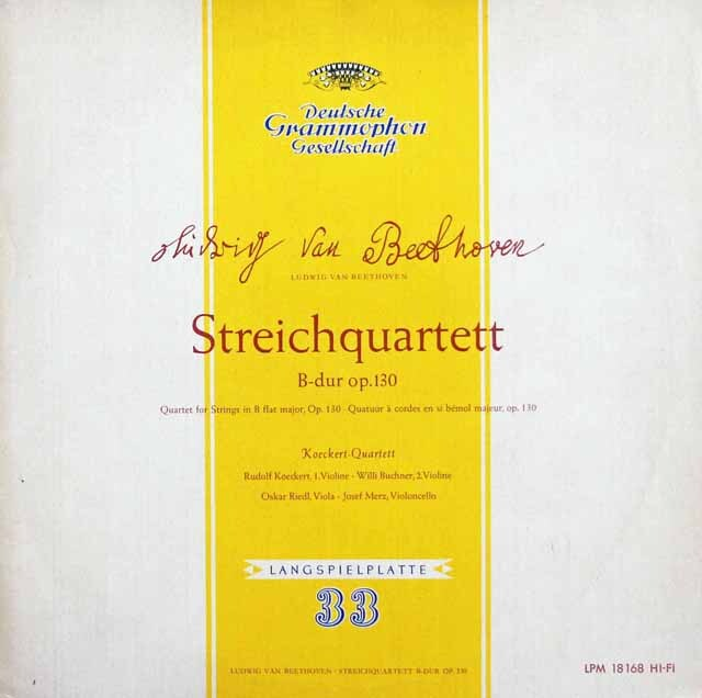 ケッケルト四重奏団のベートーヴェン/弦楽四重奏曲第13番 独DGG 3311 LP レコード