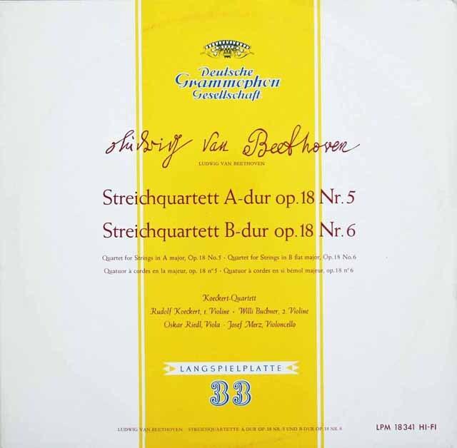 ケッケルト四重奏団のベートーヴェン/弦楽四重奏曲第5&6番 独DGG 3311 LP レコード