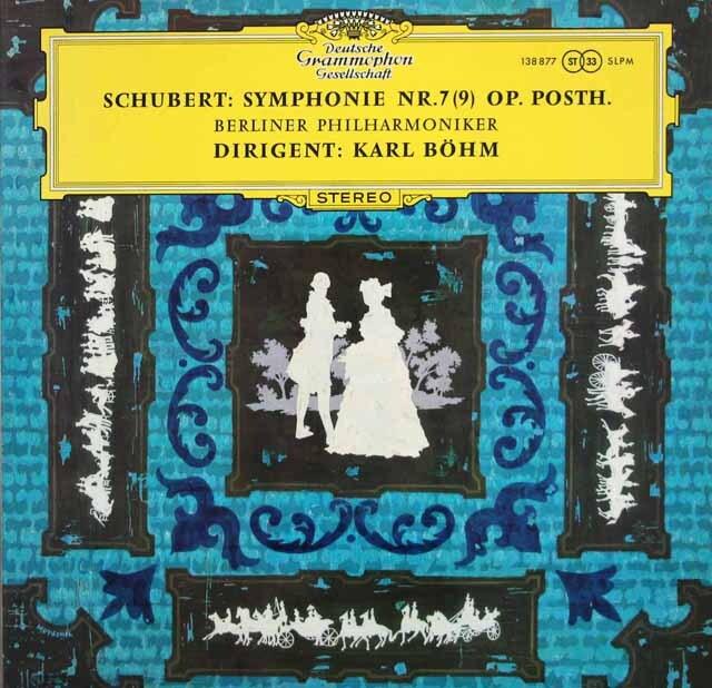 ベームのシューベルト/交響曲第9番「ザ・グレイト」 独DGG 3311 LP レコード