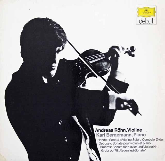 レーンのブラームス/ヴァイオリン・ソナタ 第1番「雨の歌」ほか 独DGG 3311 LP レコード