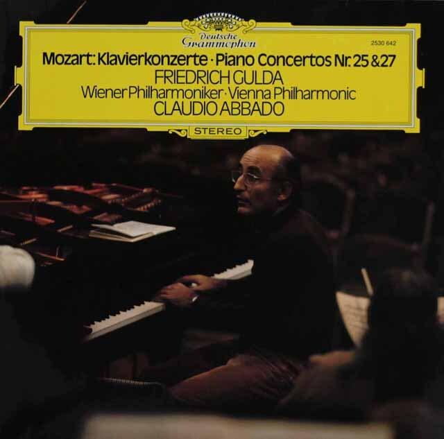 グルダ&アバドのモーツァルト/ピアノ協奏曲第25、27番 独DGG 3311 LP レコード