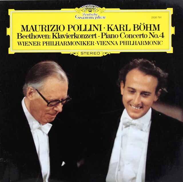 ポリーニ&ベームのベートーヴェン/ピアノ協奏曲第4番 独DGG 3311 LP レコード