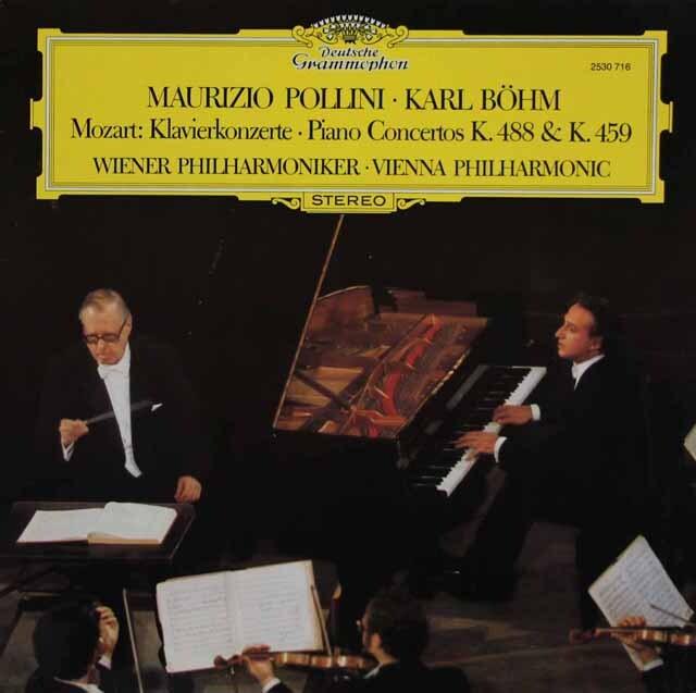 ポリーニ&ベームのモーツァルト/ピアノ協奏曲第19&23番 独DGG 3311 LP レコード