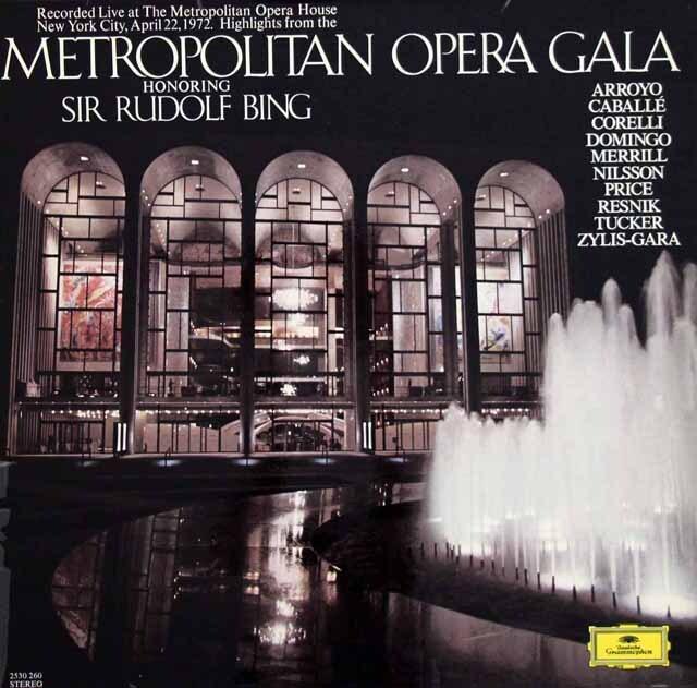 メトロポリタン・ガラ・コンサート ニルソン&ベームのR.シュトラウス/「サロメ」から他 独DGG 3311 LP レコード