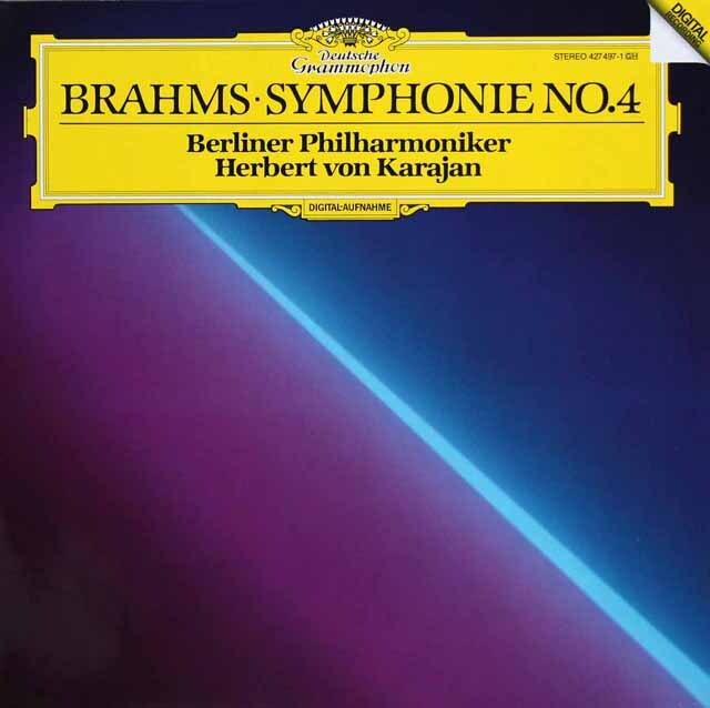カラヤンのブラームス/交響曲第4番   独DGG 3311 LP レコード