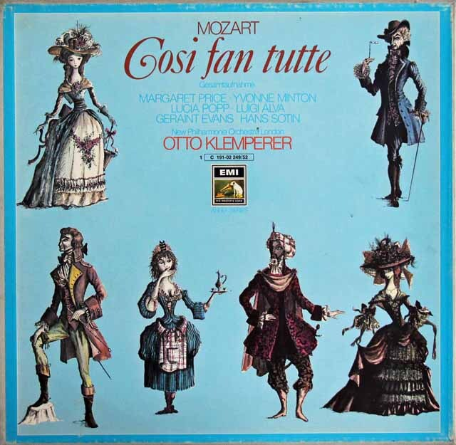 クレンペラーのモーツァルト/「コシ・ファン・トゥッテ」 独EMI 3311 LP レコード