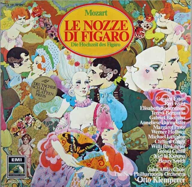 クレンペラーのモーツァルト/「フィガロの結婚」全曲 独EMI 3311 LP レコード